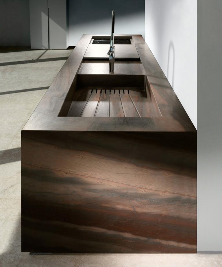 Top e piani cucina in marmo granito pietra e quarzo for Top cucina granito
